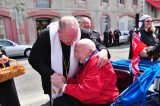 2011 Lourdes Pilgrimage - Archbishop Dolan with Malades (131/267)