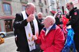 2011 Lourdes Pilgrimage - Archbishop Dolan with Malades (132/267)