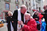 2011 Lourdes Pilgrimage - Archbishop Dolan with Malades (133/267)