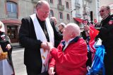 2011 Lourdes Pilgrimage - Archbishop Dolan with Malades (134/267)