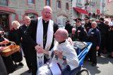 2011 Lourdes Pilgrimage - Archbishop Dolan with Malades (135/267)