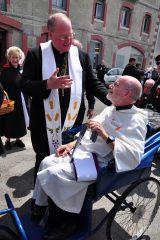 2011 Lourdes Pilgrimage - Archbishop Dolan with Malades (137/267)