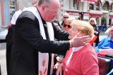 2011 Lourdes Pilgrimage - Archbishop Dolan with Malades (146/267)