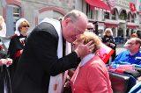 2011 Lourdes Pilgrimage - Archbishop Dolan with Malades (147/267)