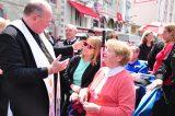 2011 Lourdes Pilgrimage - Archbishop Dolan with Malades (148/267)
