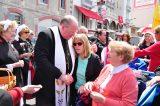 2011 Lourdes Pilgrimage - Archbishop Dolan with Malades (149/267)