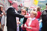 2011 Lourdes Pilgrimage - Archbishop Dolan with Malades (150/267)