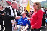 2011 Lourdes Pilgrimage - Archbishop Dolan with Malades (151/267)