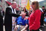 2011 Lourdes Pilgrimage - Archbishop Dolan with Malades (152/267)