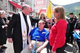 2011 Lourdes Pilgrimage - Archbishop Dolan with Malades (153/267)