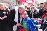 2011 Lourdes Pilgrimage - Archbishop Dolan with Malades (156/267)
