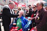 2011 Lourdes Pilgrimage - Archbishop Dolan with Malades (158/267)