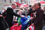 2011 Lourdes Pilgrimage - Archbishop Dolan with Malades (159/267)
