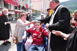2011 Lourdes Pilgrimage - Archbishop Dolan with Malades (160/267)