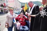 2011 Lourdes Pilgrimage - Archbishop Dolan with Malades (161/267)