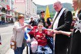 2011 Lourdes Pilgrimage - Archbishop Dolan with Malades (162/267)