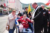 2011 Lourdes Pilgrimage - Archbishop Dolan with Malades (163/267)