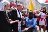 2011 Lourdes Pilgrimage - Archbishop Dolan with Malades (165/267)