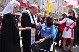 2011 Lourdes Pilgrimage - Archbishop Dolan with Malades (166/267)