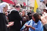 2011 Lourdes Pilgrimage - Archbishop Dolan with Malades (167/267)
