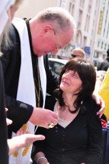 2011 Lourdes Pilgrimage - Archbishop Dolan with Malades (169/267)