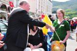 2011 Lourdes Pilgrimage - Archbishop Dolan with Malades (170/267)