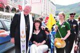 2011 Lourdes Pilgrimage - Archbishop Dolan with Malades (171/267)