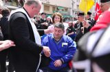 2011 Lourdes Pilgrimage - Archbishop Dolan with Malades (173/267)