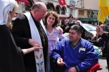 2011 Lourdes Pilgrimage - Archbishop Dolan with Malades (175/267)