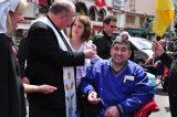 2011 Lourdes Pilgrimage - Archbishop Dolan with Malades (176/267)