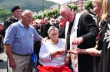 2011 Lourdes Pilgrimage - Archbishop Dolan with Malades (178/267)