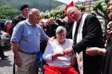 2011 Lourdes Pilgrimage - Archbishop Dolan with Malades (179/267)