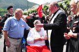 2011 Lourdes Pilgrimage - Archbishop Dolan with Malades (180/267)