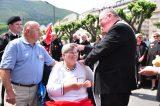 2011 Lourdes Pilgrimage - Archbishop Dolan with Malades (182/267)