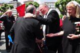 2011 Lourdes Pilgrimage - Archbishop Dolan with Malades (185/267)