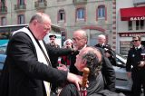 2011 Lourdes Pilgrimage - Archbishop Dolan with Malades (186/267)
