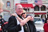 2011 Lourdes Pilgrimage - Archbishop Dolan with Malades (189/267)