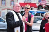 2011 Lourdes Pilgrimage - Archbishop Dolan with Malades (190/267)