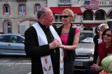 2011 Lourdes Pilgrimage - Archbishop Dolan with Malades (191/267)