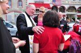 2011 Lourdes Pilgrimage - Archbishop Dolan with Malades (193/267)