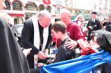 2011 Lourdes Pilgrimage - Archbishop Dolan with Malades (196/267)