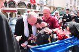 2011 Lourdes Pilgrimage - Archbishop Dolan with Malades (197/267)
