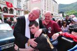2011 Lourdes Pilgrimage - Archbishop Dolan with Malades (199/267)