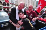 2011 Lourdes Pilgrimage - Archbishop Dolan with Malades (201/267)