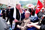 2011 Lourdes Pilgrimage - Archbishop Dolan with Malades (202/267)