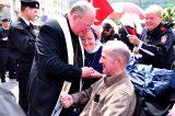2011 Lourdes Pilgrimage - Archbishop Dolan with Malades (204/267)