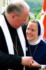 2011 Lourdes Pilgrimage - Archbishop Dolan with Malades (205/267)