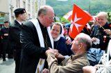 2011 Lourdes Pilgrimage - Archbishop Dolan with Malades (206/267)