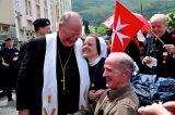 2011 Lourdes Pilgrimage - Archbishop Dolan with Malades (207/267)