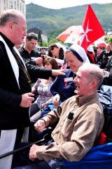 2011 Lourdes Pilgrimage - Archbishop Dolan with Malades (209/267)